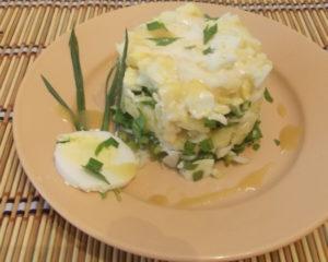 """Салат из рыбы """"Домашний - вкусный и простой салат из белого мяса рыбы"""