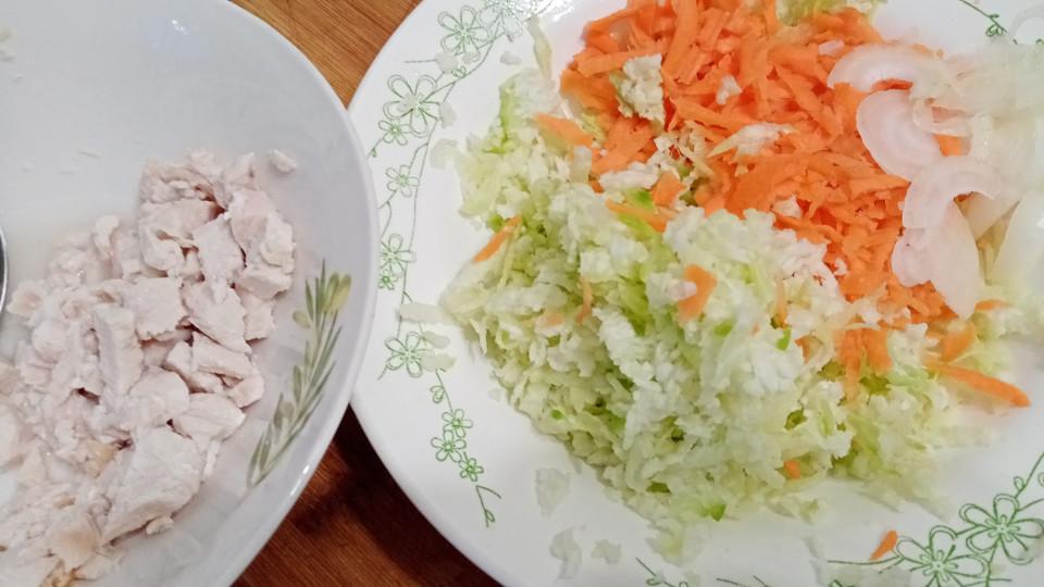 Ингредиенты для салата из редьки с мясом