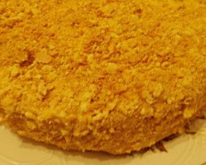 Вкусный слоеный торт Наполеон с масляным кремом