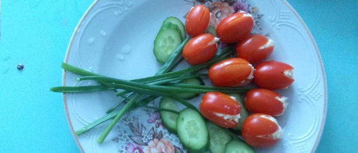 фаршированные томаты черри