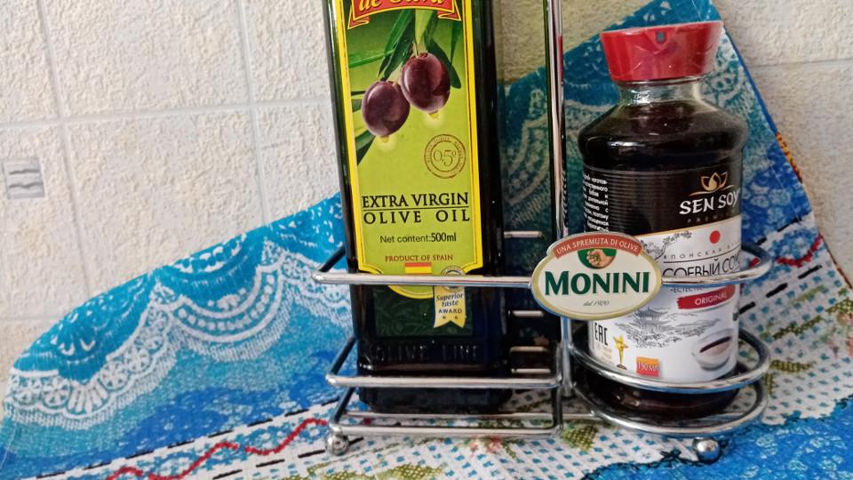 Оливковое масло, соевый соус для маринада