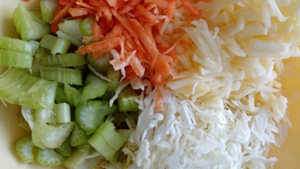 Овощи для салата из сельдерея