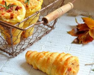 Трубочки закусочные - вкусная закуска из слоеного теста и начинки