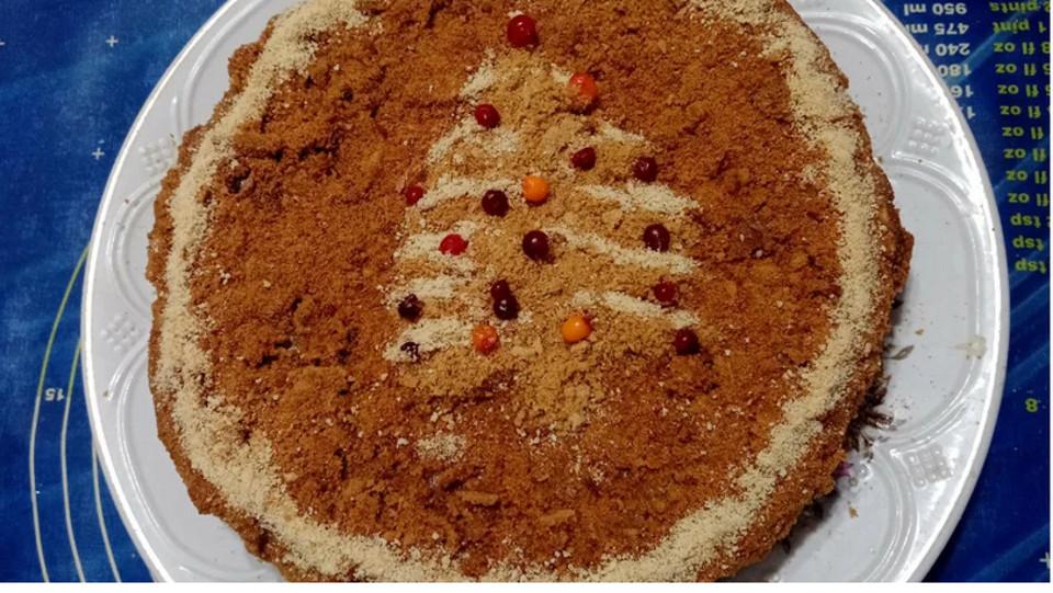 Медовый торт Рыжик